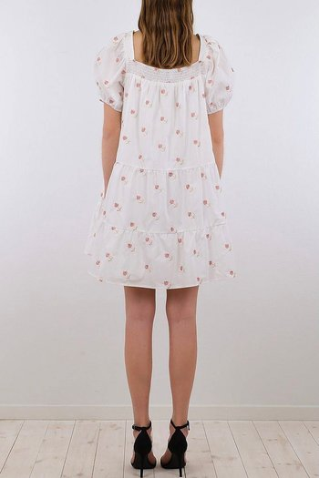 Neo Noir - Mima Rosy Dress White
