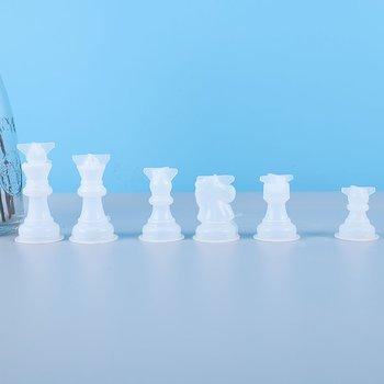 Gjutform  i silikon - 3D Schackpjäser 6 st