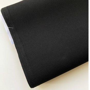 Aida broderiväv svart, 5,4 rutor/cm, 14 count