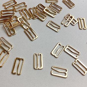 Hake 15mm - guld & silver