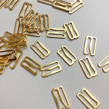 Hake 18mm - guld & silver