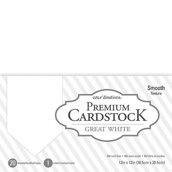 """Core'dinations - Smooth Cardstock 12""""X12"""" - 20 ark"""