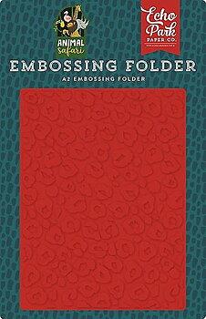 Echo Park  - Embossing Folder - Leopard