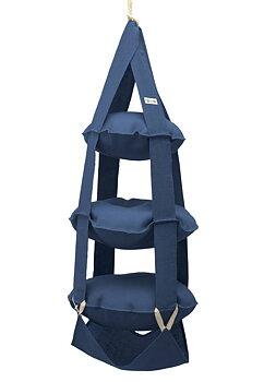 The Cat's Trapeze denimblå jute - 3 våningar