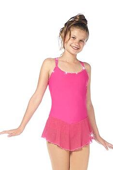 Rosa ärmlös klänning med med swarovskidekorerade band
