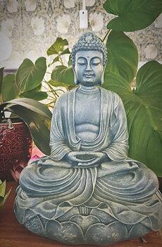 Buddah Lotus Meditation staty