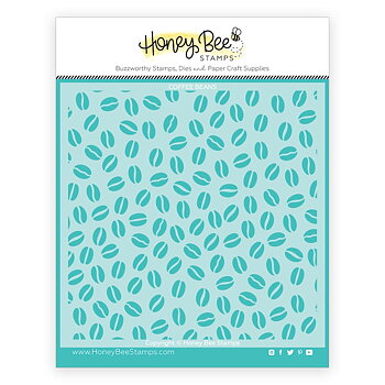 HONEY BEE STAMPS  -Coffee Bean | Background Stencil