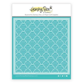 HONEY BEE STAMPS  -Honey Dipper | Background Stencil