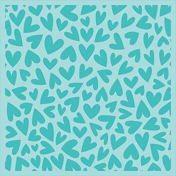 HONEY BEE STAMPS  -Fluttering Hearts | Background Stencils | Set of 2