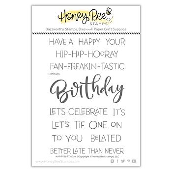 HONEY BEE STAMPS-Happy Birthday | 4x6 Stamp Set