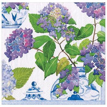 Caspari- Hydrangeas and Porcelain, Middag servett