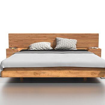 Mutombo wooden double bed oak