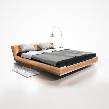 Kobe double bed oak