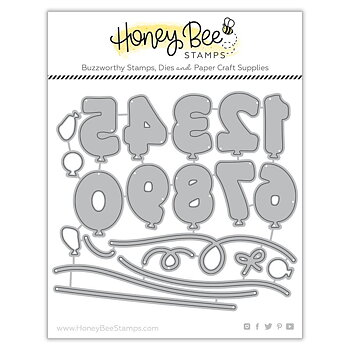 HONEY BEE STAMPS-Balloon Numbers | Honey Cuts