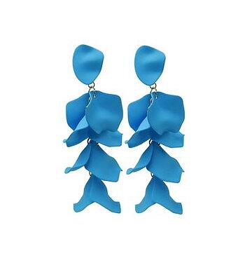 Örhänge Flake blå