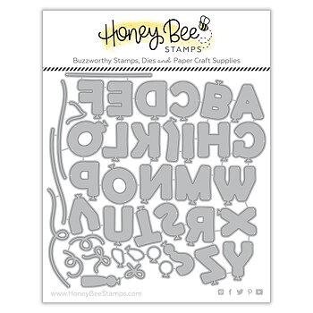 HONEY BEE STAMPS-Balloon Alphabet | Honey Cuts