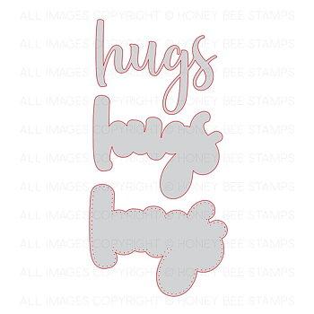 HONEY BEE STAMPS-Hugs | Honey Cuts