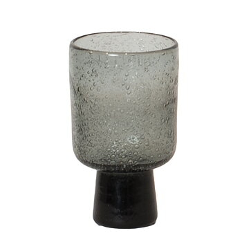 Bari glas på fot grå - Olsson & Jensen