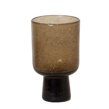 Bari glas på fot brun - Olsson & Jensen