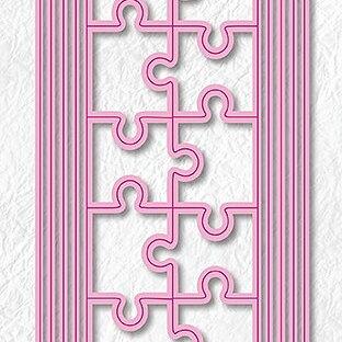 "Multi Frame Dies ""Slim lines-puzzle"""