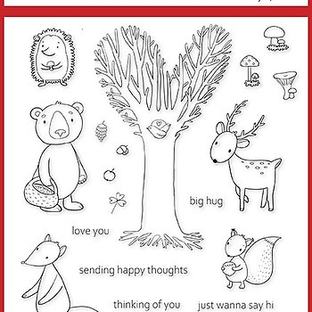"""Clear stamps Forest Friends """"Just wanna say hi"""""""