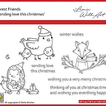 """Forest Friends """"Sending love this Christmas"""""""