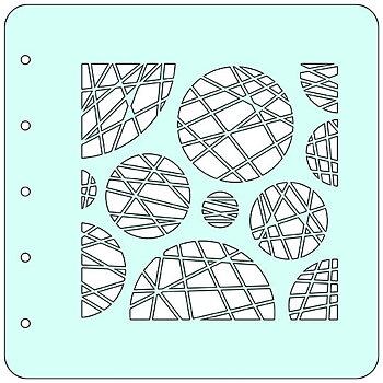 """Stencil A6 """"circles"""""""
