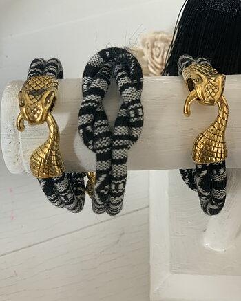 Armband Snake Svart Vit