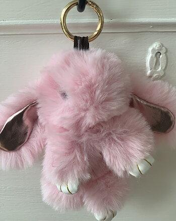 Nyckelring Cozy Rabbit Rosa