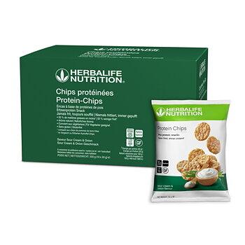 Chips Protéinées Saveur Sour Cream & Onion 10 sachets de 30g