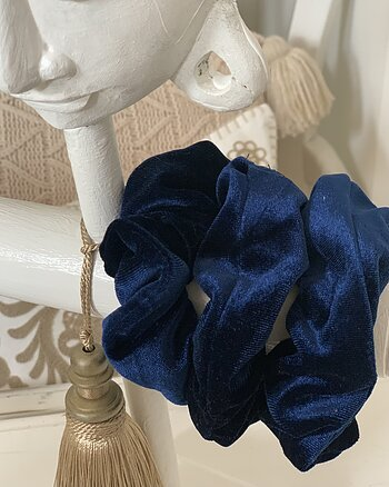 Velvet tofs - Royal Blue
