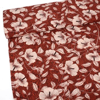 WOVEN VISCOSE -  TROPICAL RED