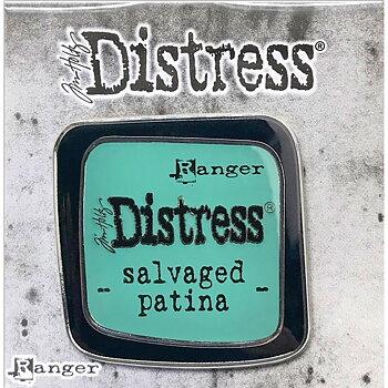 Distress Enamel Collector Pin -  Salvage Patina
