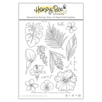 HONEY BEE STAMPS-Paradise Blooms | 6x8 Stamp Set