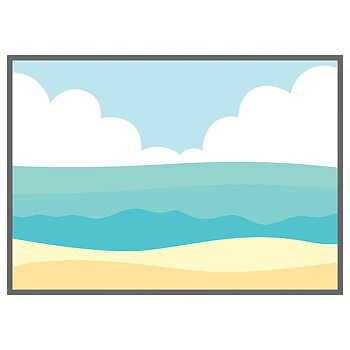 HONEY BEE STAMPS -Beach Scene A7 Cover Plate | Honey Cuts