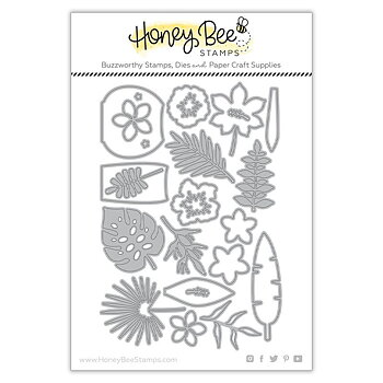 HONEY BEE STAMPS -Tropical Bouquets | Honey Cuts