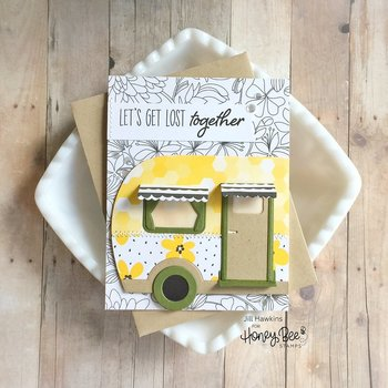 HONEY BEE STAMPS -Wild and Free | 4x8 Stamp Set