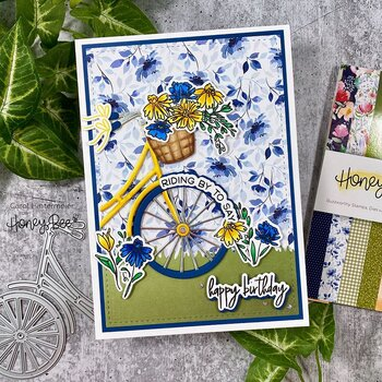 HONEY BEE STAMPS -Riding By | 6x6 Stamp Set
