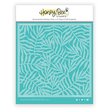 HONEY BEE STAMPS -Palm Frond | Background Stencil