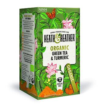 """Te """"Grönt te med gurkmeja"""" Eko Heath & Heather"""