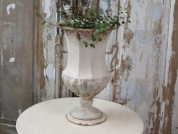 Fransk urna på fot - Antique Creme - 54 cm