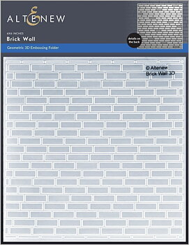 ALTENEW -Brick Wall 3D Embossing Folder