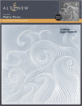 ALTENEW -Mighty Waves 3D Embossing Folder