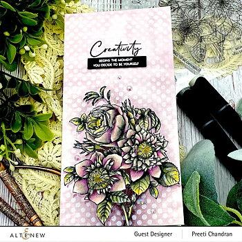 ALTENEW -Paint-A-Flower: Clematis Josephine Outline Stamp Set