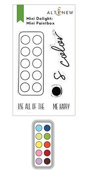 ALTENEW -Mini Delight: Mini Paintbox Stamp & Die Set