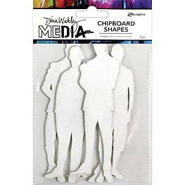 Dina Wakley Media - Chipboard - The Men