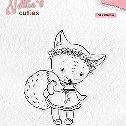 """Nellie's Christmas Cuties """"Foxy Christmas lady"""" clear stamps"""