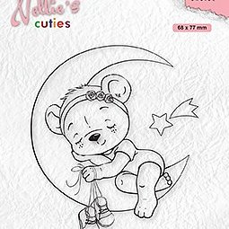 """Nellie's Christmas Cuties """"Dreaming of a white Christmas"""" clear stamps"""