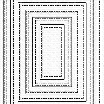 A2 Double Stitched Rectangle STAX Die-namics