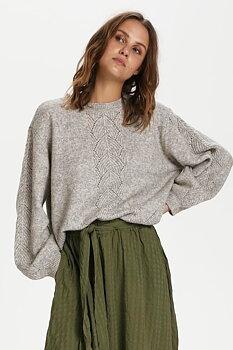 Saint Tropez Helle Stickad Pullover